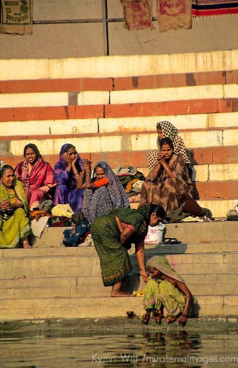 Asia, India, Varanasi. Women of Varanasi.