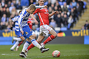 Reading FC striker Matej Vydra shoots at goal during the The FA Cup fourth round match between Reading and Walsall at the Madejski Stadium, Reading, England on 30 January 2016. Photo by Mark Davies.