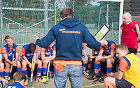 HAARLEM - Eerste ronde bekerhockey om de SILVERCUP. Saxenburg tegen HC Abcoude (0-1). coach Bart Wisbrun  van Saxenburg.  met  COPYRIGHT KOEN SUYK