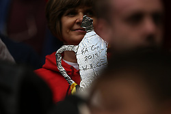 A tin foil fa cup trophy with Watfords name on it - Mandatory by-line: Arron Gent/JMP - 18/05/2019 - FOOTBALL - Wembley Stadium - London, England - Manchester City v Watford - Emirates FA Cup Final
