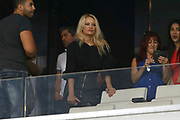 Pamela Anderson before the French Championship Ligue 1 football match between Olympique de Marseille and Toulouse FC on September 24, 2017 at Orange Velodrome stadium in Marseille, France - Photo Philippe Laurenson / ProSportsImages / DPPI