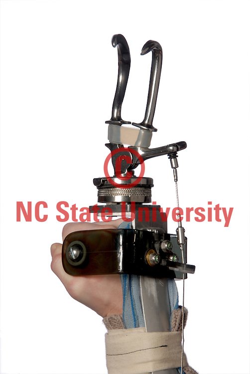 Mechanical arm designed by NC State students.