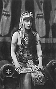 Lillie Langtry (1853-1929) as Cleopatra, c1885.  English society beauty and actress, born Emilie Charlotte Le Breton on Jersey. Called the 'Jersey Lily'. In late 1870s she was mistress to the Prince of Wales (Edward VII - 1841-1910) king of Great Britain from 1901).