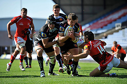 Ian Whitten looks to score a try for Exeter Chiefs - Photo mandatory by-line: Patrick Khachfe/JMP - Mobile: 07966 386802 06/09/2014 - SPORT - RUGBY UNION - Oxford - Kassam Stadium - London Welsh v Exeter Chiefs - Aviva Premiership