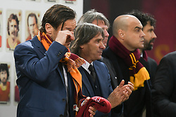 November 27, 2018 - Rome, Italy - Former AS Rome Italian players, Francesco Totti (L) , Bruno Conti (C) during the Champions league football match between AS Roma  and Real Madrid at Olimpico stadium in Rome, Italy, on November 27, 2018. (Credit Image: © Federica Roselli/NurPhoto via ZUMA Press)