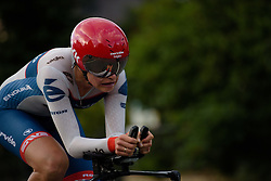 Joëlle Numainville (Cervélo Bigla) feeling the burn in the final kilometres at Thüringen Rundfarht 2016 - Stage 4 a 19km time trial starting and finishing in Zeulenroda Triebes, Germany on 18th July 2016.