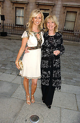 Left to right, JENNY HALPERN-PRINCE and her mother at the Royal Academy of Art's SUmmer Party following the official opening of the Summer Exhibition held at the Royal Academy of Art, Burlington House, Piccadilly, London W1 on 7th June 2006.<br />