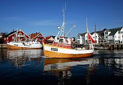 NORWAY LOFOTEN HENNINGSVAER 28MAR07 - Cod-fishing boat returns to port at Henningsvaer on the Lofoten islands...jre/Photo by Jiri Rezac..© Jiri Rezac 2007..Contact: +44 (0) 7050 110 417.Mobile: +44 (0) 7801 337 683.Office: +44 (0) 20 8968 9635..Email: jiri@jirirezac.com.Web: www.jirirezac.com..© All images Jiri Rezac 2007 - All rights reserved.