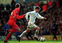 Football -  AXA  Sponsored FA Cup - 4th Round -  Leeds United v Liverpool - 27/1/01<br />Liverpool's Dietmar Hamann and Leed's Eric Bakke<br />Mandatory Credit:Action Images / John Sibley/Digitalsport
