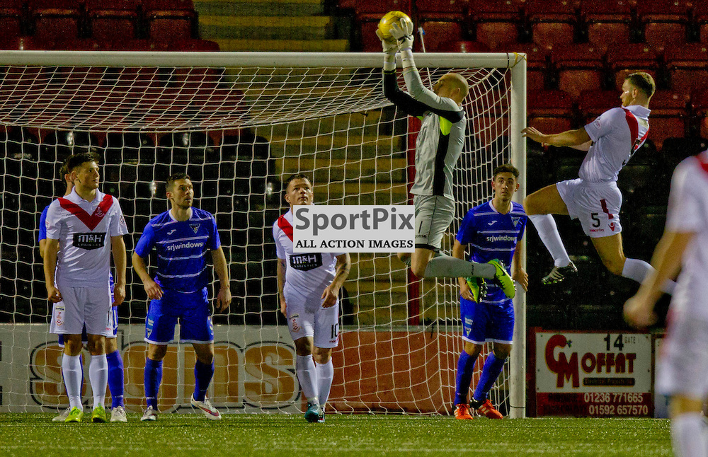 Airdrieonians v Dunfermline Athletic SPFL League One Season 2015/16 Excelsior Stadium 14 November 2015<br /> Sean Murdoch makes a save in Dunfermlines 6th clean sheet in a row<br /> CRAIG BROWN | sportPix.org.uk