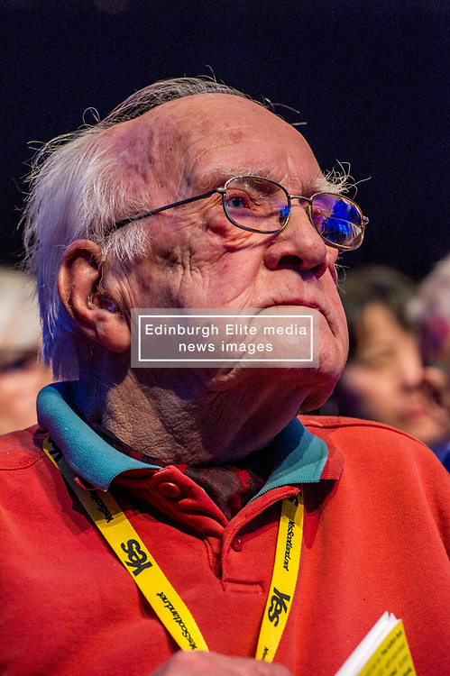 Pictured: SNP party veteran Gerry Fisher<br /> The members of the SNP gathered in the Scottish Events Centre in Glasgow for their annual conference.<br /> <br /> The Ger Harley | EEm 9 October 2017