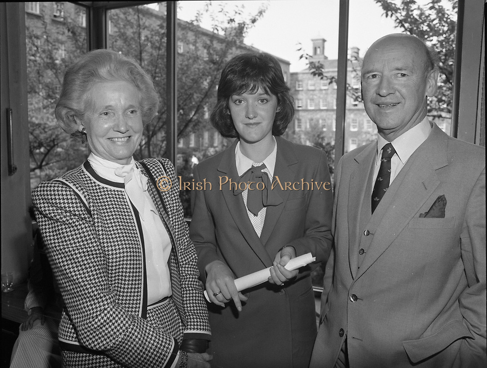 Presentation of certificates of Institute of Chartered Accountants at Trinity College, Dublin,<br /> 14th May 1984