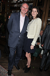 WILLIAM CASH and LADY LAURA CATHCART at a party to celebrate the launch Mr Fogg's, 15 Bruton Lane, London W1 on 21st May 2013.
