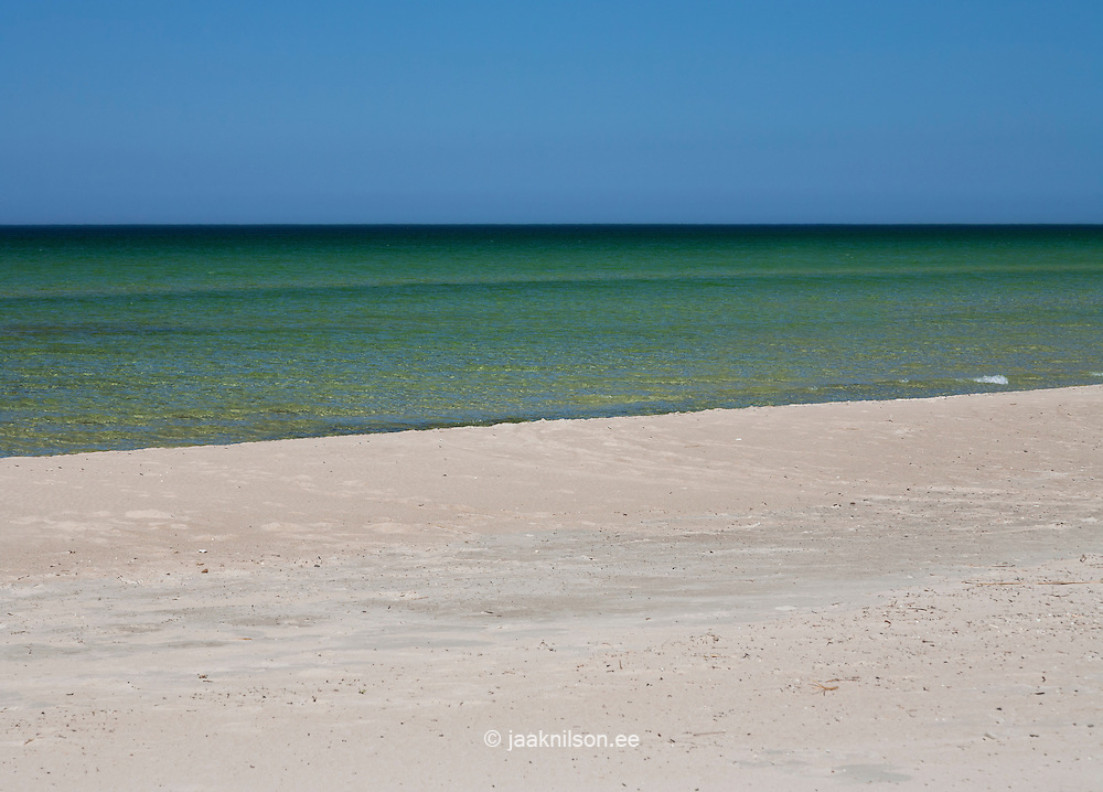 Seascape. Sandy Vääna beach in Estonia.