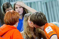 Jan Klobucar kissing his girlfriend after the volleyball match between ACH Volley and Generali Unterhaching (GER) in 1st Leg of Pool D of 2013 CEV Champions League on October 24, 2012 in Arena Stozice, Ljubljana, Slovenia. Unterhaching defeated ACH 3-2. (Photo By Vid Ponikvar / Sportida)