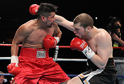 December 16, 2010; New York, NY; USA;  Dmitriy Salita knocks out James Wayka in the third round of their bout at Roseland Ballroom.