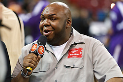 January 19, 2011; Sacramento, CA, USA;  Television commerical actor Windell Middlebrooks before the game between the Sacramento Kings and the Portland Trail Blazers at the ARCO Arena.
