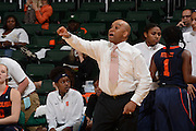 February 20, 2014: Head coach Quentin Hillsman of Syracuse in action during the NCAA basketball game between the Miami Hurricanes and the Syracuse Orange at the Bank United Center in Coral Gables, FL. The Orange defeated the Hurricanes 69-48.