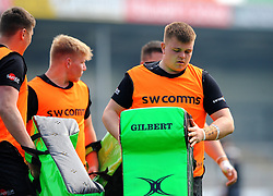 Exeter Braves players warm up- Mandatory by-line: Nizaam Jones/JMP - 22/04/2019 - RUGBY - Sandy Park Stadium - Exeter, England - Exeter Braves v Saracens Storm - Premiership Rugby Shield