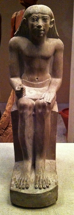 limestone statue of a senior court official called Idi. 6th Dynasty, circa 2200 BC.