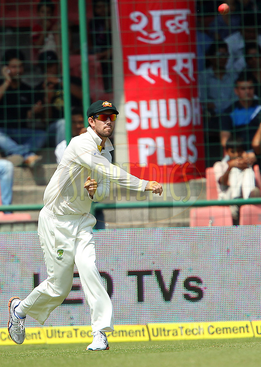 Glenn Maxwell of Australia fields during day 2 of the 4th Test Match between India and Australia held at the Feroz Shah Kotla stadium in Delhi on the 23rd March 2013..Photo by Ron Gaunt/BCCI/SPORTZPICS ..Use of this image is subject to the terms and conditions as outlined by the BCCI. These terms can be found by following this link:..http://www.sportzpics.co.za/image/I0000SoRagM2cIEc