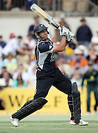 NZ batsman Ross Taylor in action during the 4th one day international cricket match, New Zealand Black Caps v Australia, Chappell Hadlee Series at the Adelaide Oval, Australia, 10 February 2009..Photo: Andrew Cornaga/PHOTOSPORT