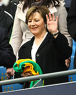 Picture by Paul Chesterton/Focus Images Ltd.  07904 640267.03/12/11.Norwich City's Joint Majority Shareholder Delia Smith before the Barclays Premier League match at the Etihad Stadium, Manchester.