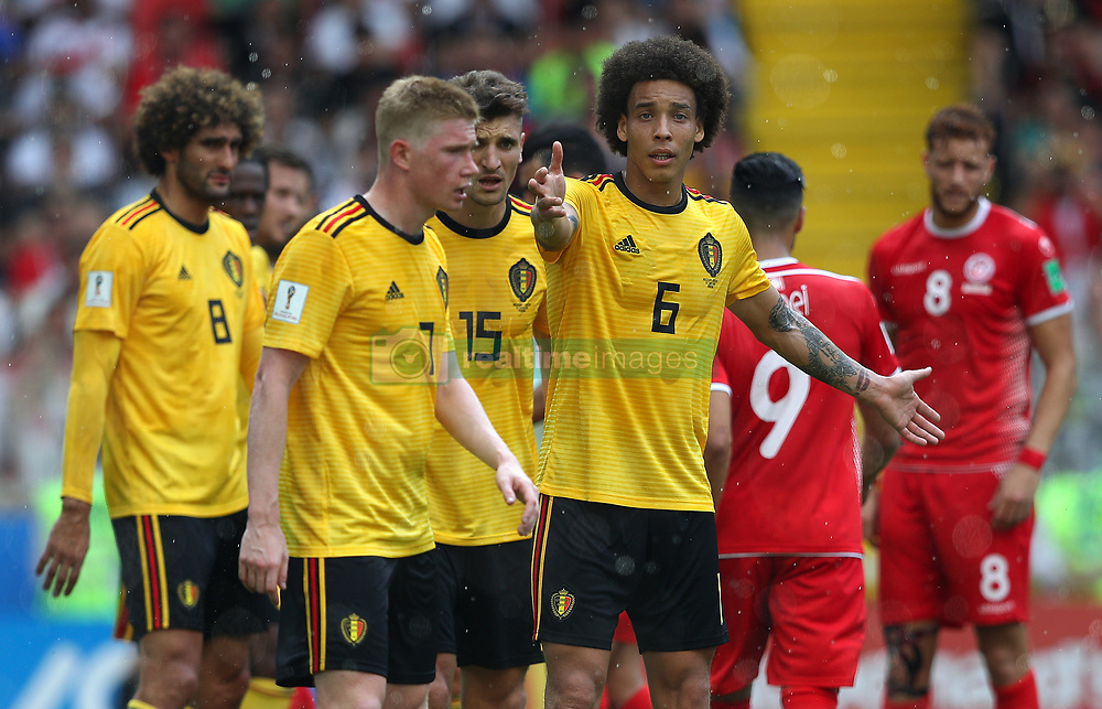June 23, 2018 - Moscou, Rússia - MOSCOU, MO - 23.06.2018: BÉLGICA Y TÚNEZ - Axel WITSEL of Belgium during the match between Belgium and Tunisia valid for the 2018 World Cup held at the Otkrytie Arena (Spartak) in Moscow, Russia. (Credit Image: © Rodolfo Buhrer/Fotoarena via ZUMA Press)
