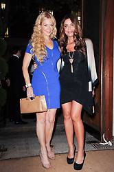 Left to right, LIZ FULLER and JO-EMMA LARVIN at the Inspiration Awards For Women held at Cadogan Hall, Sloane Terrace, London on 6th October 2010.