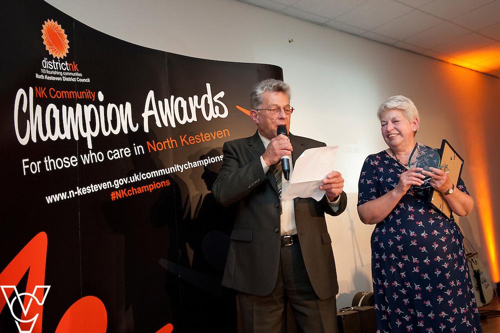 Award 8 - Community spirit award<br /> <br /> Award North Kesteven Community Champion Awards 2015, held at The Venue, Navenby.<br /> <br /> Picture: Chris Vaughan/Chris Vaughan Photography for North Kesteven District Council<br /> Date: September 10, 2015
