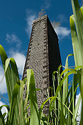 Mauritius. Old chimney from sugar cane mill