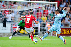 Bristol City's Sam Baldock takes a shot at goal. - Photo mandatory by-line: Dougie Allward/JMP - Tel: Mobile: 07966 386802 11/08/2013 - SPORT - FOOTBALL - Sixfields Stadium - Sixfields Stadium -  Coventry V Bristol City - Sky Bet League One
