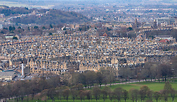 View of tenement apartment buildings in Bruntsfield district of Edinburgh, Scotland ,UK