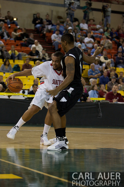 November 29th, 2008:  Anchorage, Alaska - Seattle University forward Aaron Broussard (2) explodes into the paint and the Portland State defense in the third place game on the final day of the Great Alaska Shootout.
