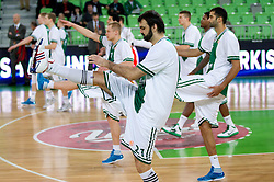 Ratko Varda of Union Olimpija at warming up during basketball match between KK Union Olimpija and Montepaschi Siena (ITA) of 7th Round in Group D of Regular season of Euroleague 2011/2012 on December 1, 2011, in Arena Stozice, Ljubljana, Slovenia. (Photo by Vid Ponikvar / Sportida)