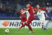 Diego Perotti of Roma scores 1-0 goal by penalty during the UEFA Europa League, Group J football match between AS Roma and Wolfsberg AC on December 12, 2019 at Stadio Olimpico in Rome, Italy - Photo Federico Proietti / ProSportsImages / DPPI