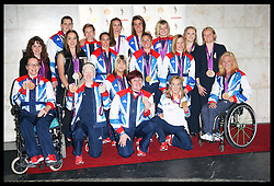Team GB Olympic and Paralympic Women medallists  arriving at the Women of the Year Awards in London, Monday 22nd October 2012.  Photo by: Stephen Lock / i-Images