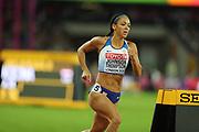 Katarina Johnson-Thompson at the IAAF World Championships at the London Stadium, London, England on 6 August 2017. Photo by Myriam Cawston.