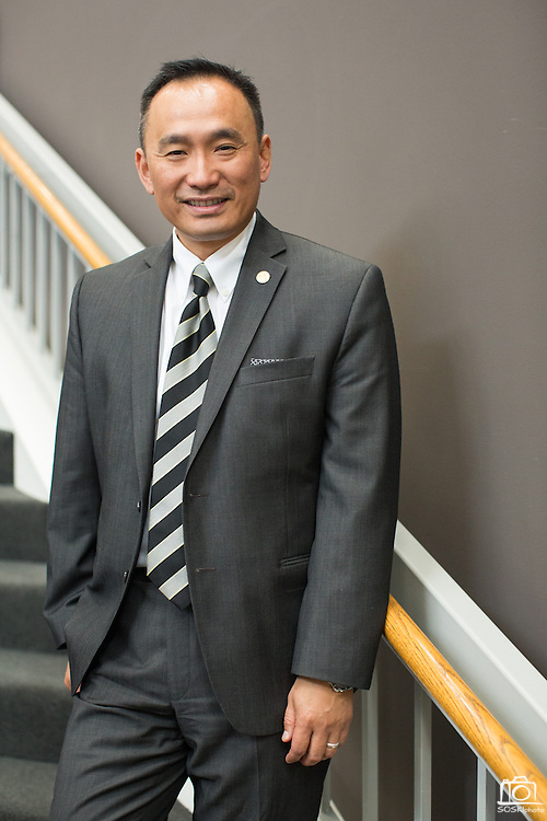 Peter Kuo poses for a portrait during the Silicon Valley NAIFA 58th Annual Sales Congress at The Domain Hotel in Sunnyvale, California, on March 28, 2014. (Stan Olszewski/SOSKIphoto)