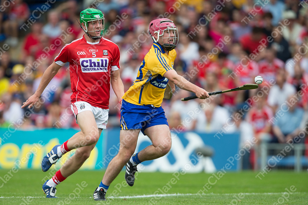 Clare's Gearoid Cahill V Cork's Aaron Walsh Barry