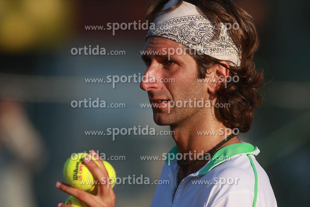 Francesco Piccari of Italy at 1st Round of ATP Challenger BMW Ljubljana Open 2008, on September 8, 2008, Ljubljana, Slovenia. (Photo by Vid Ponikvar / Sportal Images)...