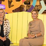 NLD/Amsterdam/20191008 - Maxima bij Conferentie voor Mental Health and Psychosocial Support, Koningin Maxima en Minister Sigrid Kaag