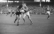 Kerry's forward L. Prendergast tackles Down player who has possession during the All Ireland Senior Gaelic Football Final Kerry v Down in Croke Park on the 22nd September 1968. Down 2-12 Kerry 1-13.