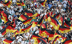 MOSCOW, June 17, 2018  Fans of Germany cheer during a group F match between Germany and Mexico at the 2018 FIFA World Cup in Moscow, Russia, June 17, 2018. (Credit Image: © Cao Can/Xinhua via ZUMA Wire)