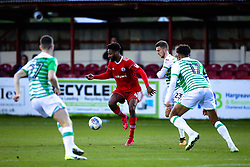 Janoi Donacien of Accrington Stanley takes on the Yeovil Town defence - Mandatory by-line: Robbie Stephenson/JMP - 17/04/2018 - FOOTBALL - Wham Stadium - Accrington, England - Accrington Stanley v Yeovil Town - Sky Bet League Two