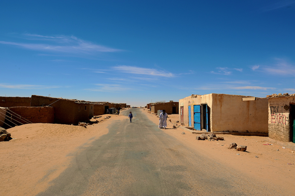 Saharawi refugees in Tindouf.