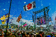 Years and Years play the Pyramid Stage to a small, reflective but generally appreciative crowd - The 2019 Glastonbury Festival, Worthy Farm, Glastonbury.