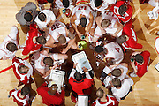 BLOOMINGTON, IN - JANUARY 29: General view from above as Indiana Hoosiers head basketball coach Tom Crean diagrams a play for his players during a timeout in the game against the Iowa Hawkeyes at Assembly Hall on January 29, 2012 in Bloomington, Indiana. Indiana defeated Iowa 103-89. (Photo by Joe Robbins) *** Local Caption *** Tom Crean