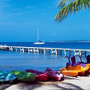 Kayacs at Copamarina resort.Puerto Rico