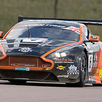 #6, Aston Martin Vantage GT3, Oman Racing Team, driven by Liam Griffin and Rory Butcher, 03/05/2015. British GT Championships at Rockingham
